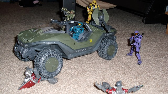 Sgt. Johnson rides into action with his Rainbow of Spartan Soldiers!