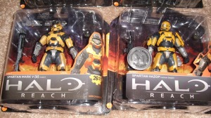 "According to McFarlane Toys, these are ""Gold"" and not ""Orange"" like previous Spartans..."