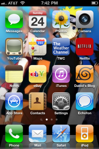 My dream came true! My blog has an icon on my phone! AWESOME!!!