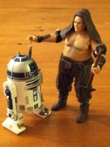 R2-D2 with launching lightsaber and the Rancor Keeper