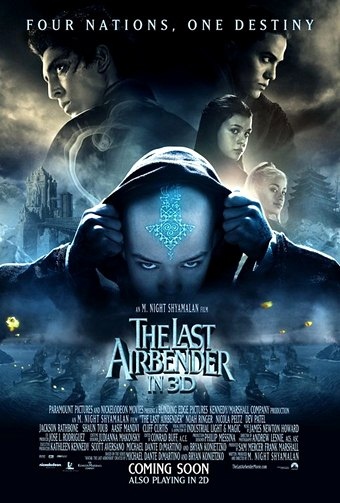 "movie review m night shyamalan s ""avatar the last airbender  avatar thelast airbender movie poster"