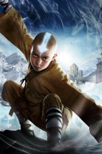 Aang never actually looks this cool in the movie.