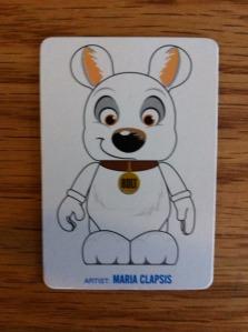Disney Vinylmation Bolt Artist Card