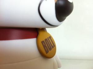 "Disney Vinylmation 9"" Bolt Dog Collar Tag"