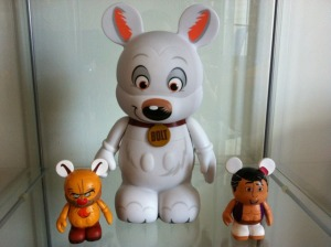 "Disney Vinylmation 9"" vs 3"" Size Comparison"