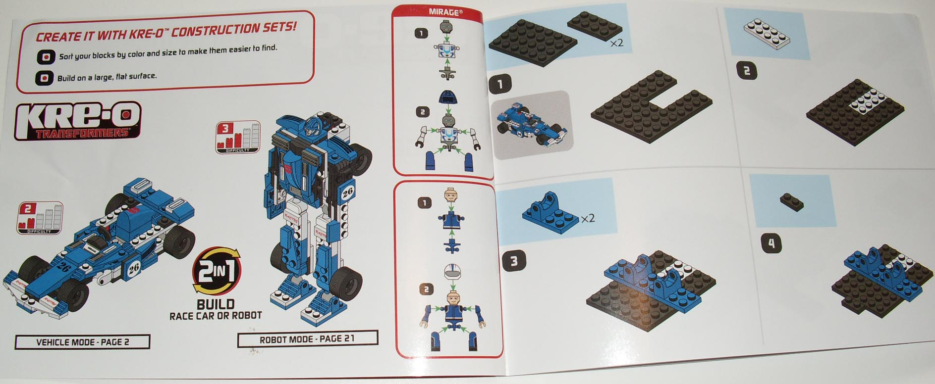 lego construction set instructions