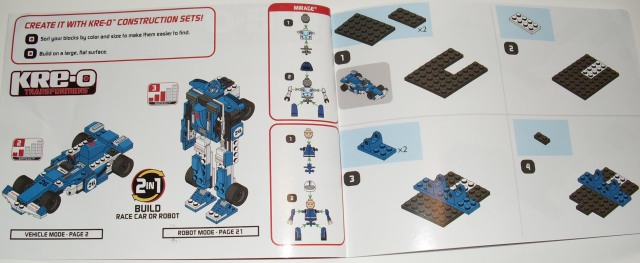 Kre-O Transformers Mirage Instructions