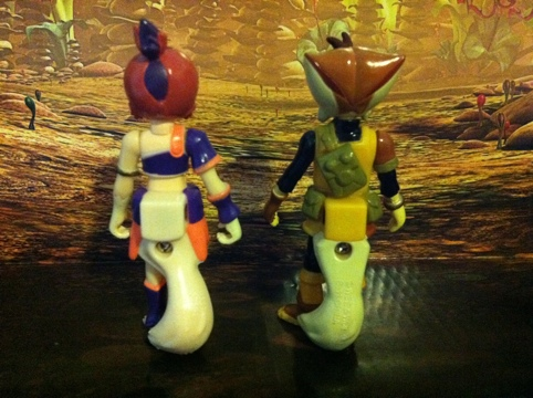 Thundercats Wilykat and Wilykit Action Figures Backs