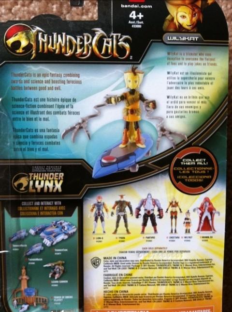"Thundercats Wilykat 4"" Action Figure Cardback"