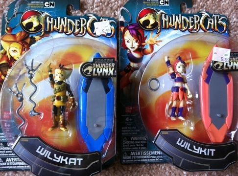 "Thundercats Wilykit and Wilykat 4"" Action Figures"