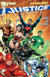 Justice League #1 Cover (DC Comics The New 52)