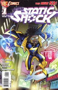 Static Shock #1 Cover (DC Comics - The New 52)