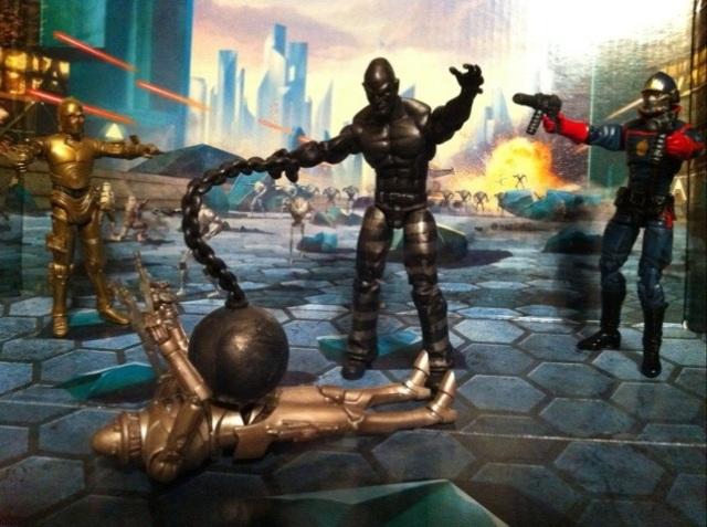Absorbing Man Metal Skin Variant Attacks Marvel Universe Wave 16