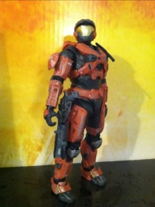 Halo Reach Spartan Air Assault Armor Rust Orange