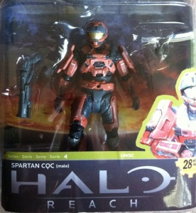 Halo Reach Rust Orange CQC Spartan (McFarlane Toys)