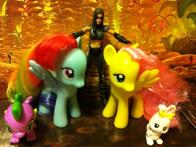 X-23 Marvel Universe Action Figure and My Little Pony