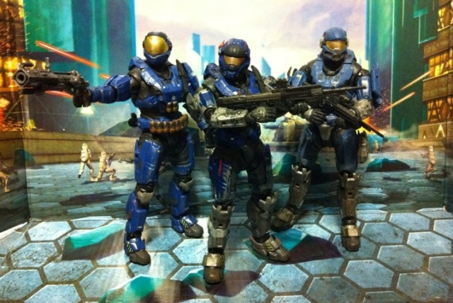 Security Spartan (Blue) Halo Reach Series 5 Action Figure (McFarlane Toys)