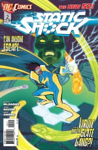 Static Shock #2 Cover DC Comics New 52