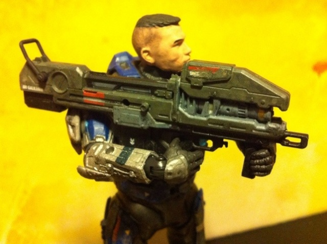 Spartan Laser from Halo Reach Series 5 Carter Unhelmeted Action Figure