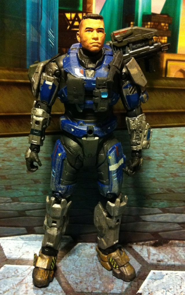 TOY REVIEW: Carter Unhelmeted Halo Reach Series 5 Action Figure