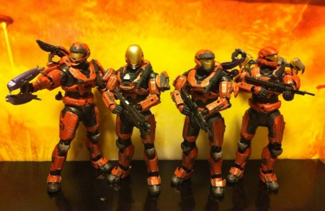 Halo Spartans Rust Squad Action Figures
