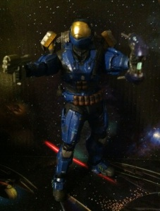 Halo Reach Security Spartan Fully-Equipped with the Weapons Pack
