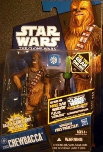 Star Wars Clone Wars Chewbacca Action Figure Packaged