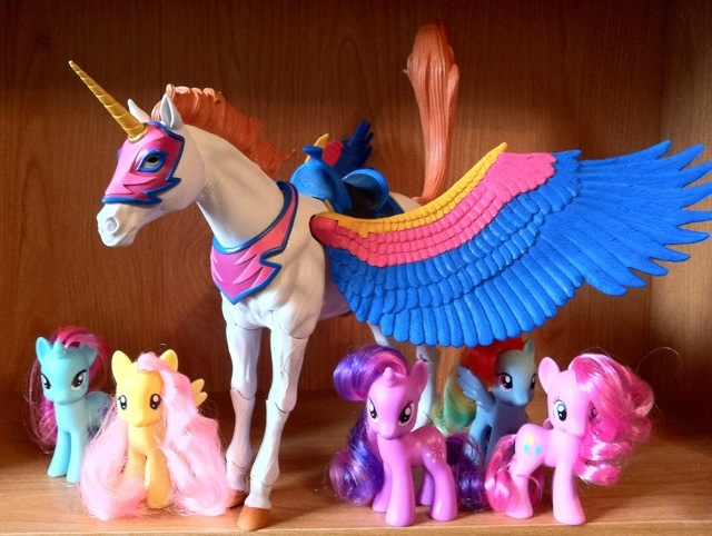 Masters of the Universe Classics Swiftwind and My Little Pony Brigade