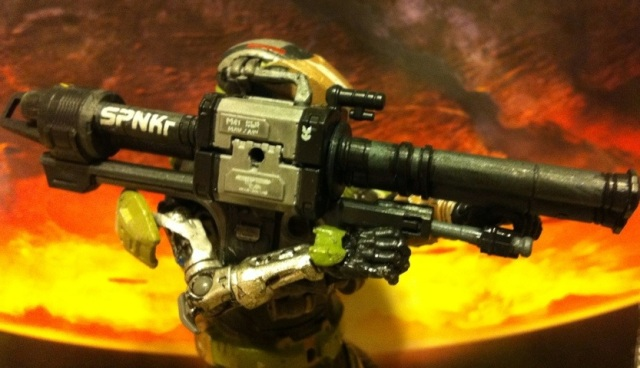 GUNGNIR Custom Spartan with Rocket Launcher Halo Reach Series 5