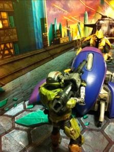 Covenant Ghost vs. GUNGNIR Custom Spartan with Rocket Launcher Halo Reach Series 5