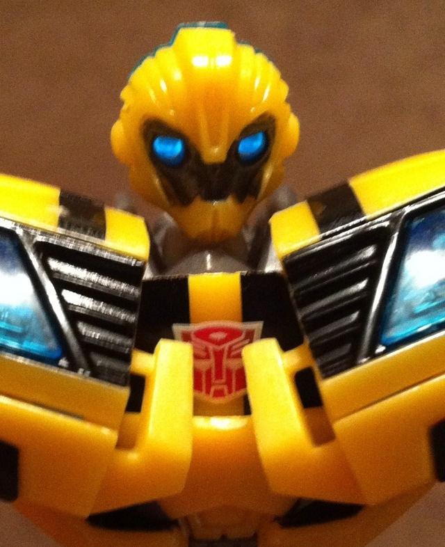 Transformers Prime Bumblebee Toy Close-Up