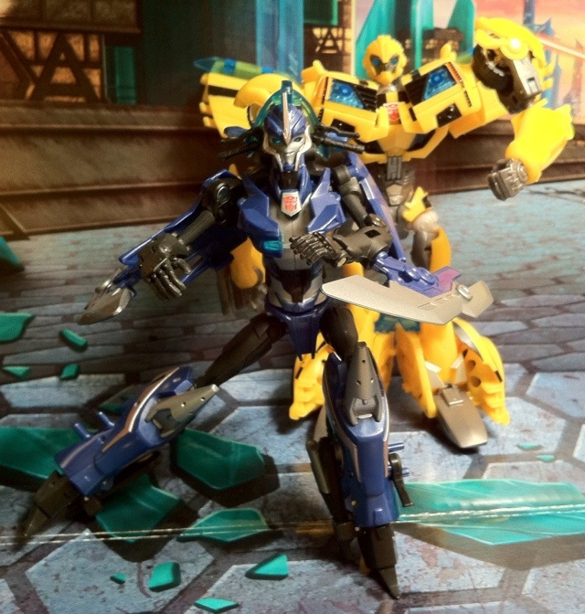 Transformers Prime Arcee and Bumblebee Toys