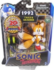 Packaged Classic 1992 Tails Action Figure Sonic the Hedgehog 20th Anniversary