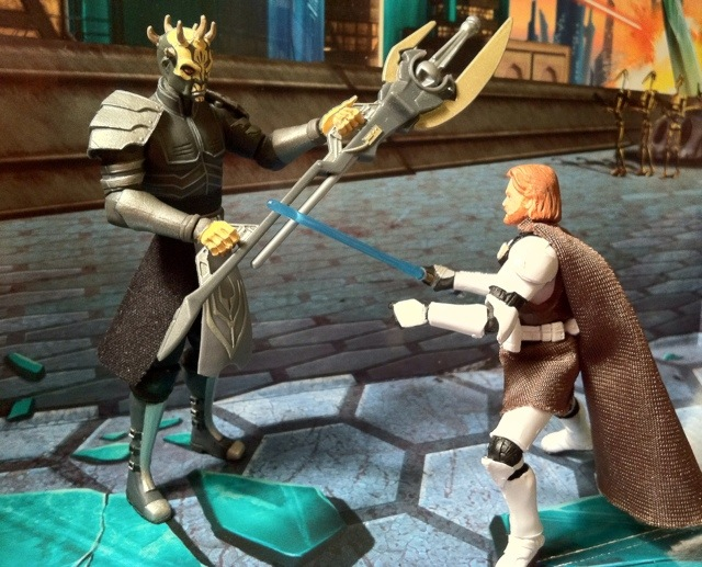 Obi-Wan Kenobi vs. Savage Opress Clone Wars Action Figure
