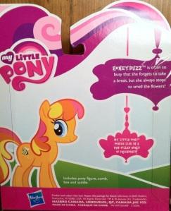Cardback and Bio for Honeybuzz My Little Pony