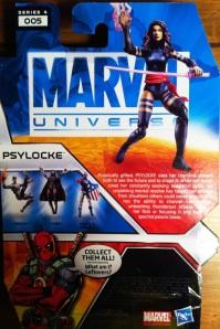 Marvel Universe Psylocke Action Figure Cardback