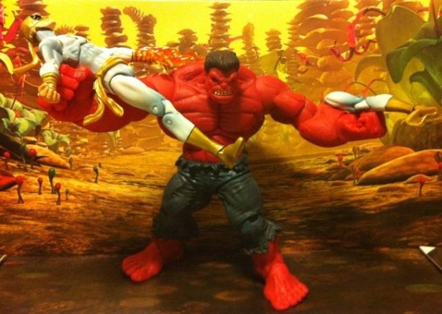 Red Hulk vs. Iron Fist Modern White Marvel Universe 2012 Wave 17