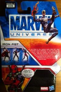 Iron Fist Modern White Marvel Universe 2012 Wave 17 Cardback