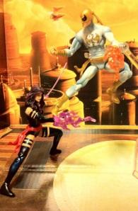 Psylocke vs. Iron Fist Modern White Marvel Universe 2012 Wave 17