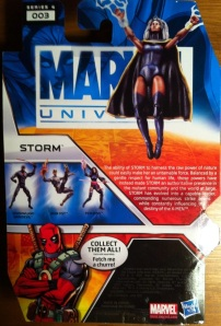 Marvel Universe 2012 Storm Action Figure Wave 17 Cardback