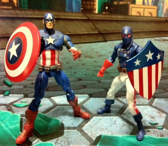 Marvel Universe Captain America and Patriot Action Figures