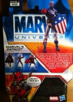 Marvel Universe 2012 Patriot Action Figure Wave 17 Cardback