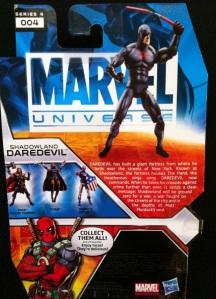 Shadowland Daredevil Marvel Universe 2012 Wave 17 Action Figure Cardback