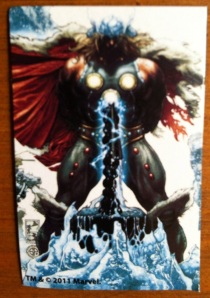 Thor Ages of Thunder Marvel Universe 2012 Action Figure Collectible Card Shot