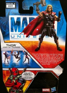 Thor Ages of Thunder Marvel Universe 2012 Action Figure Cardback