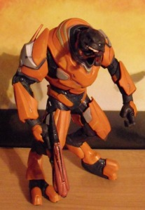 McFarlane Toys Halo Reach Series 2 Elite Officer Orange Helmetless