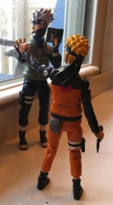 Even as a plastic action figure, Kakashi is on a different level from Naruto...