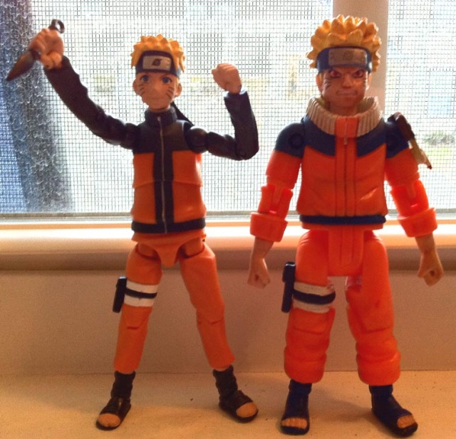 Toynami Naruto Figure vs. The Disgraceful Mattel Naruto Figure